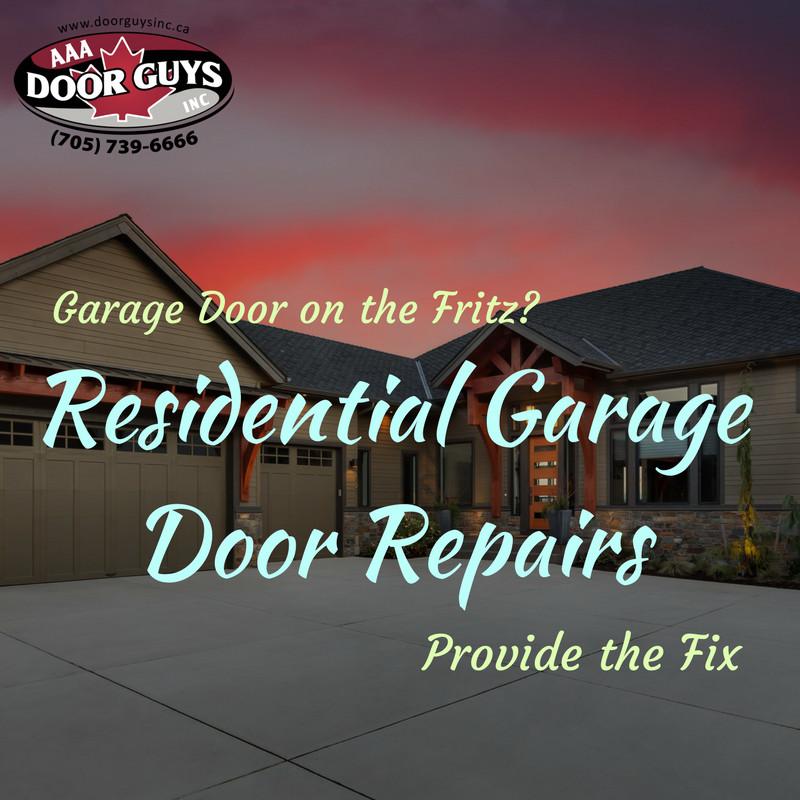 Garage Door on the Fritz? Residential Garage Door Repairs Provide the Fix