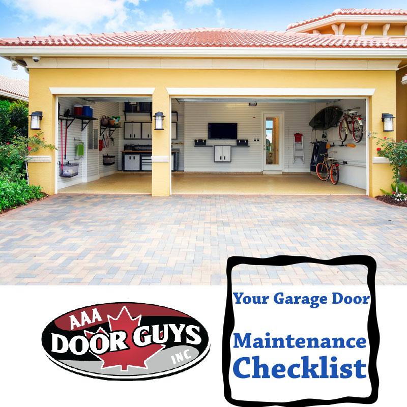 Your Garage Door Maintenance Checklist Aaa Door Guys Inc