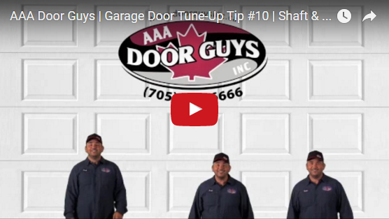 Garage Door Tip #10: Shaft and Bearings Must Not Be Worn Out or Bent